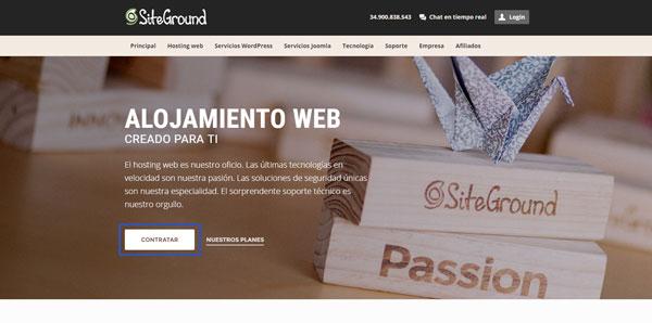 contratar hosting siteground