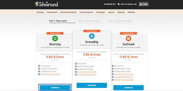 plan startup siteground