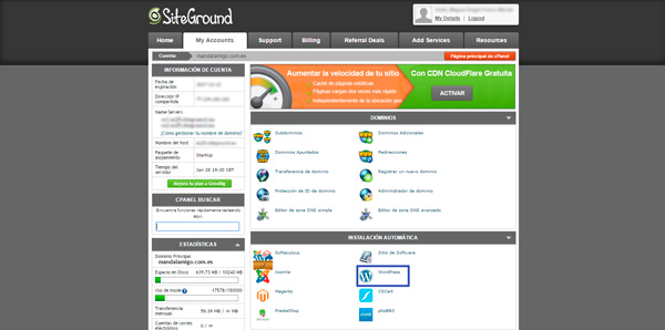 wordpress siteground