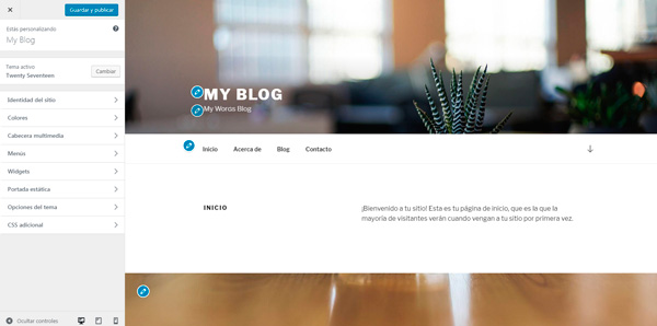 personalizar wordpress