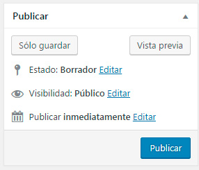 publicar entrada wordpress
