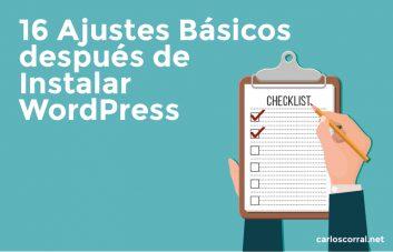 ajustes basicos tras instalar wordpress