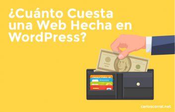 cuanto cuesta web wordpress