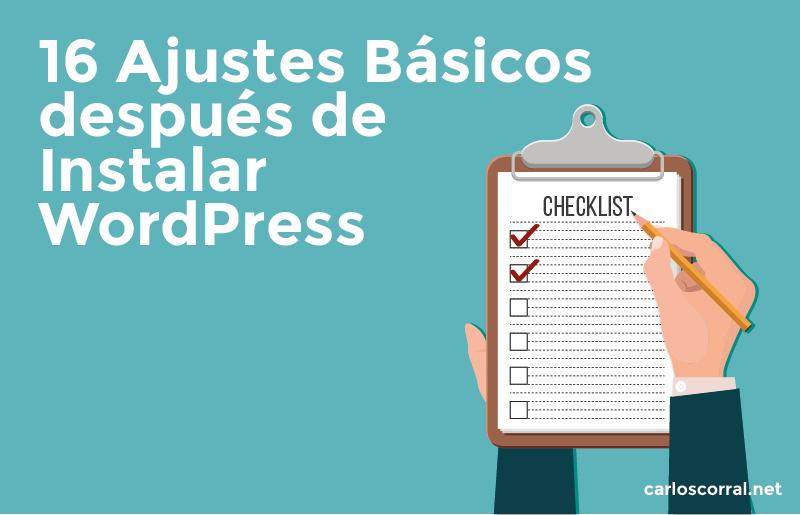 ajustes basicos al instalar wordpress